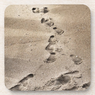 Footprints in the Sand Drink Coaster