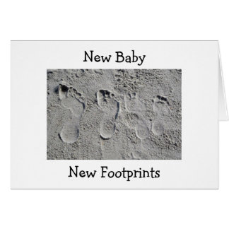 FOOTPRINTS IN THE SAND/NEW BABY CONGRATULATIONS CARDS