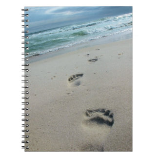 Footprints in the Sand Notebook