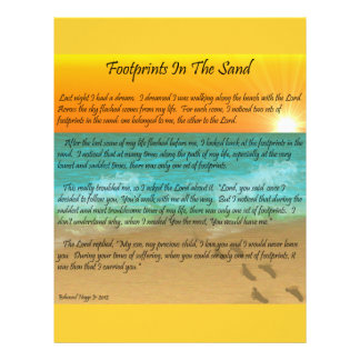 Footprints in the Sand Personalized Letterhead