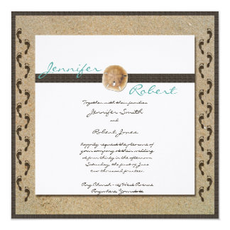 Footprints in the Sand Wedding Invitation