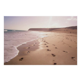 footprints in the waves poster
