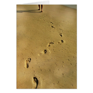 Footprints of Love Card