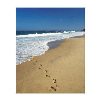 Footprints On Beach, Mabibi, Thongaland Canvas Prints