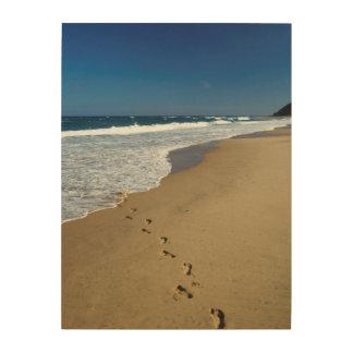 Footprints On Beach, Mabibi, Thongaland Wood Print