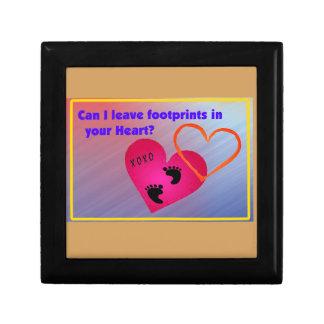 Footprints on Hearts Gift Box