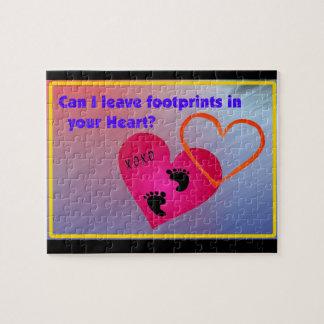 Footprints on Hearts Jigsaw Puzzle