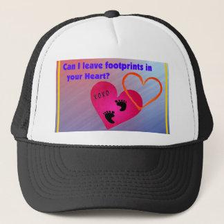 Footprints on Hearts Trucker Hat