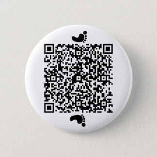 Footprints on Moon 2 Inch Round Button