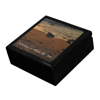 Footprints on the Beach; Customizable Gift Box