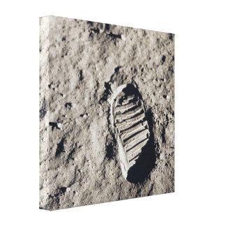 Footprints on the Moon Gallery Wrap Canvas