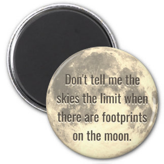 Footprints on the Moon Magnet