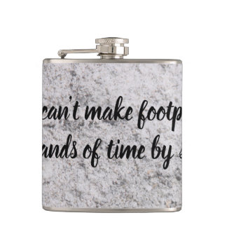 Footprints On the Sand Flask