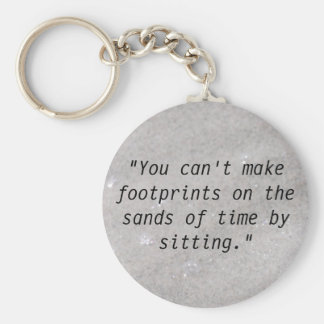 Footprints On the Sand Key Chain