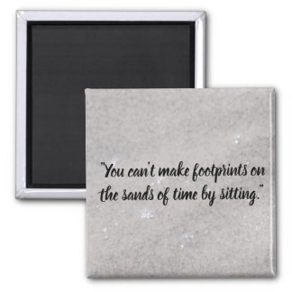 Footprints On the Sand Magnet