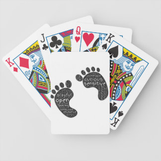 Footsteps Bicycle Playing Cards