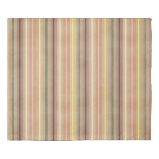 Footsteps Earthy Striped Reversible Duvet Cover