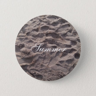 Footsteps in The Sand Beach Summer Holiday 2 Inch Round Button