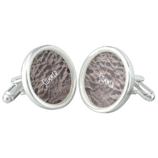 Footsteps in The Sand Beach Summer Holiday Cufflinks