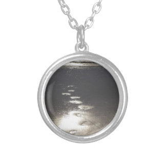 Footsteps in the Sand Silver Plated Necklace