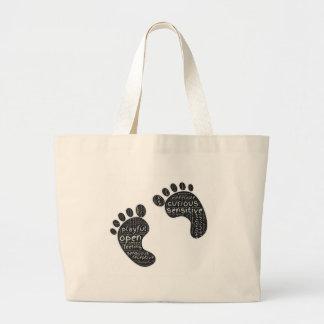 Footsteps Large Tote Bag
