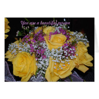 For a beautiful person card