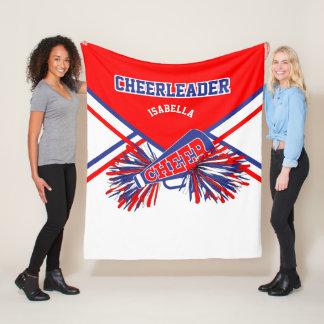 For a Cheerleader - Blue, White & Red 2 Fleece Blanket