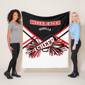 For a Cheerleader - Red, White & Black 2 Fleece Blanket