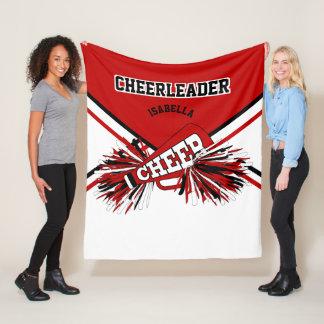 For a Cheerleader - Red, White & Black - Med. Fleece Blanket