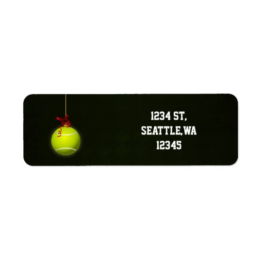 for a tennis player address labels