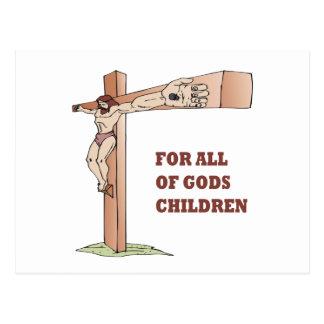 For All Gods Children Postcard
