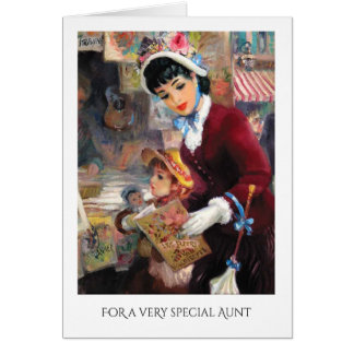For Aunt on Mother's Day Fine Art Greeting Cards