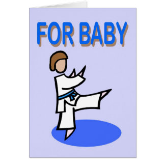 For Baby Boy Martial Arts Card
