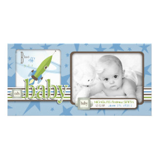 For Baby Boy Photo Card