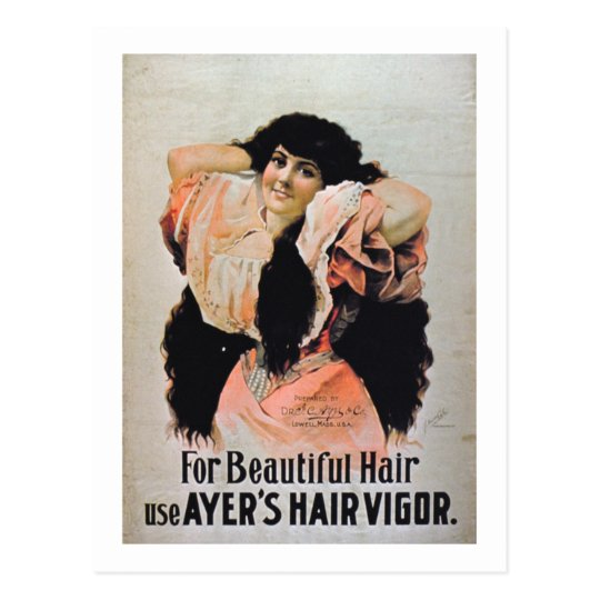 'For Beautiful Hair Use Ayer's Hair Vigour' Postcard