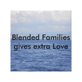 For blended families canvas print