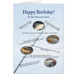 For boss, Fishing jokes birthday card