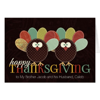 for Brother and His Husband Thanksgiving Pair Card