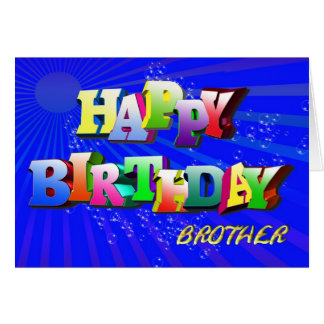 For brother  Bright bubbles birthday card
