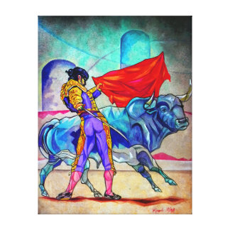 For Bull fighting his life! Canvas Print