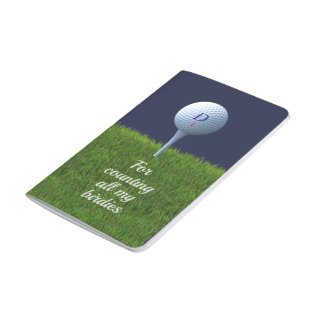 For Counting Birdies Golf Checklist Pocket Journal