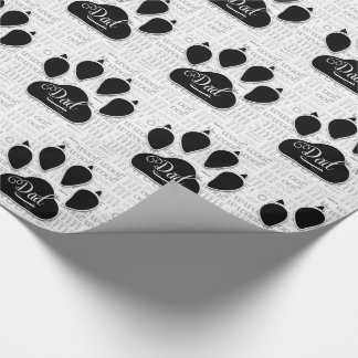 for DAD Black Dog Paw on Woof Background