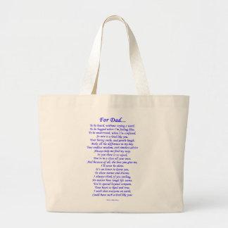 For Dad Jumbo Tote Bag