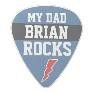 for dad personalized MY DADDY ROCKS Acetal Guitar Pick