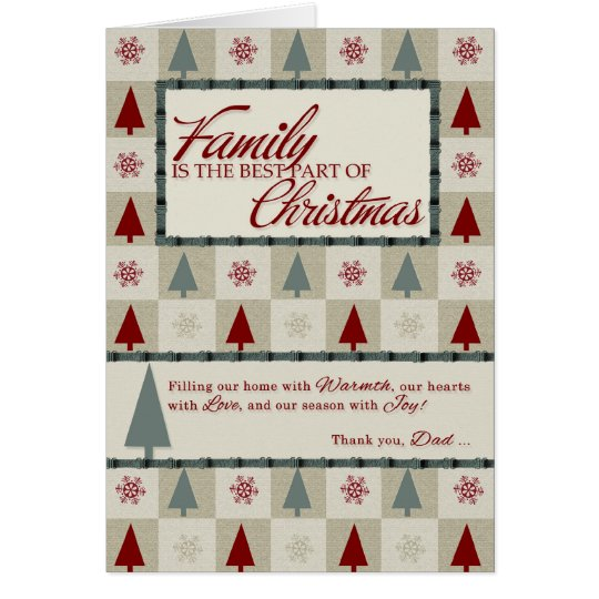 for Dad Retro Patterned Christmas Card