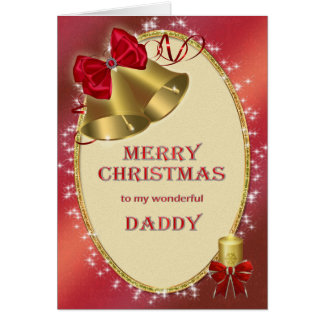 For daddy, traditional Christmas card