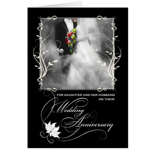 For Daughter and Her Husband Wedding Anniversary Cards