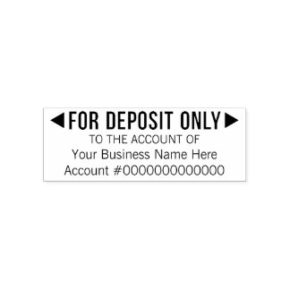 For Deposit Only - Basic Office or Business Bank Self-inking Stamp