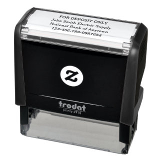 For Deposit Only Custom Self-inking Stamp