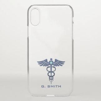 For Doctors and Nurses. Medical Caduceus. iPhone X Case